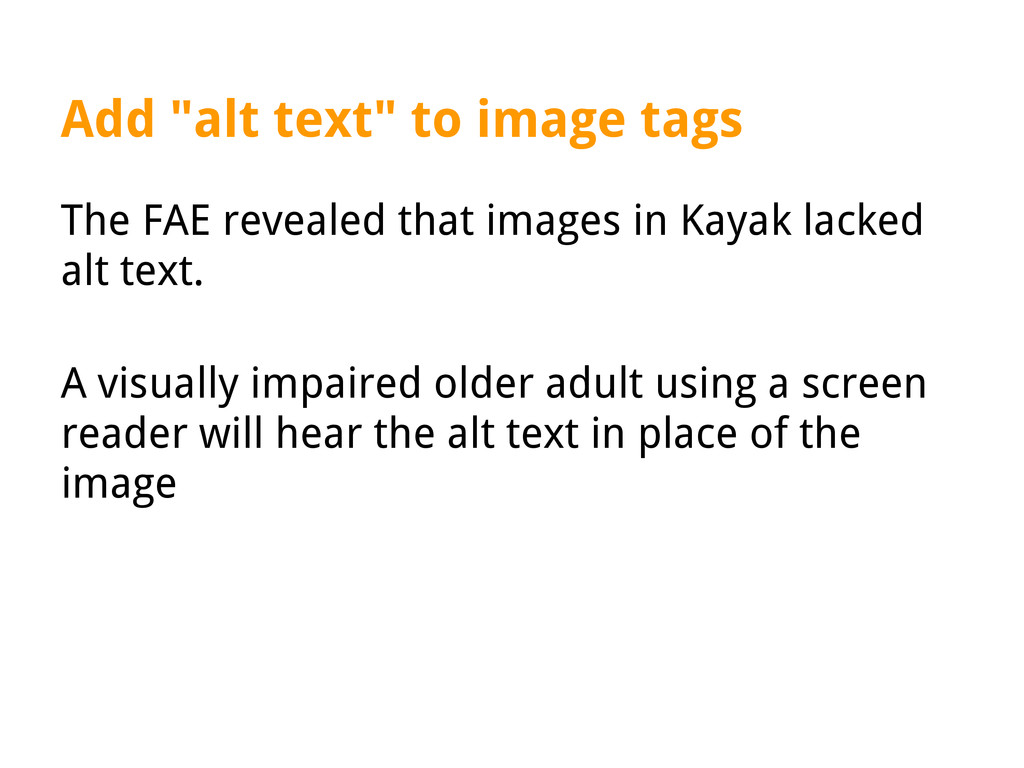 """Add """"alt text"""" to image tags The FAE revealed t..."""