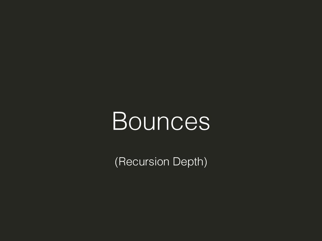 Bounces (Recursion Depth)