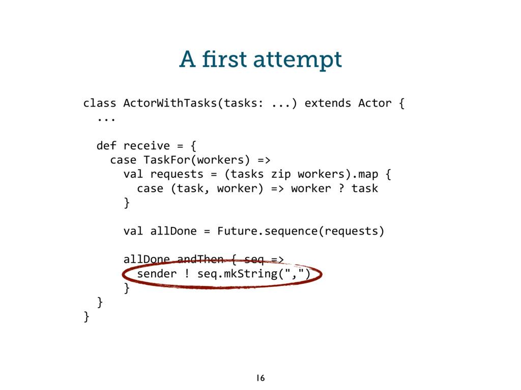 class ActorWithTasks(tasks: ...) extends Actor ...