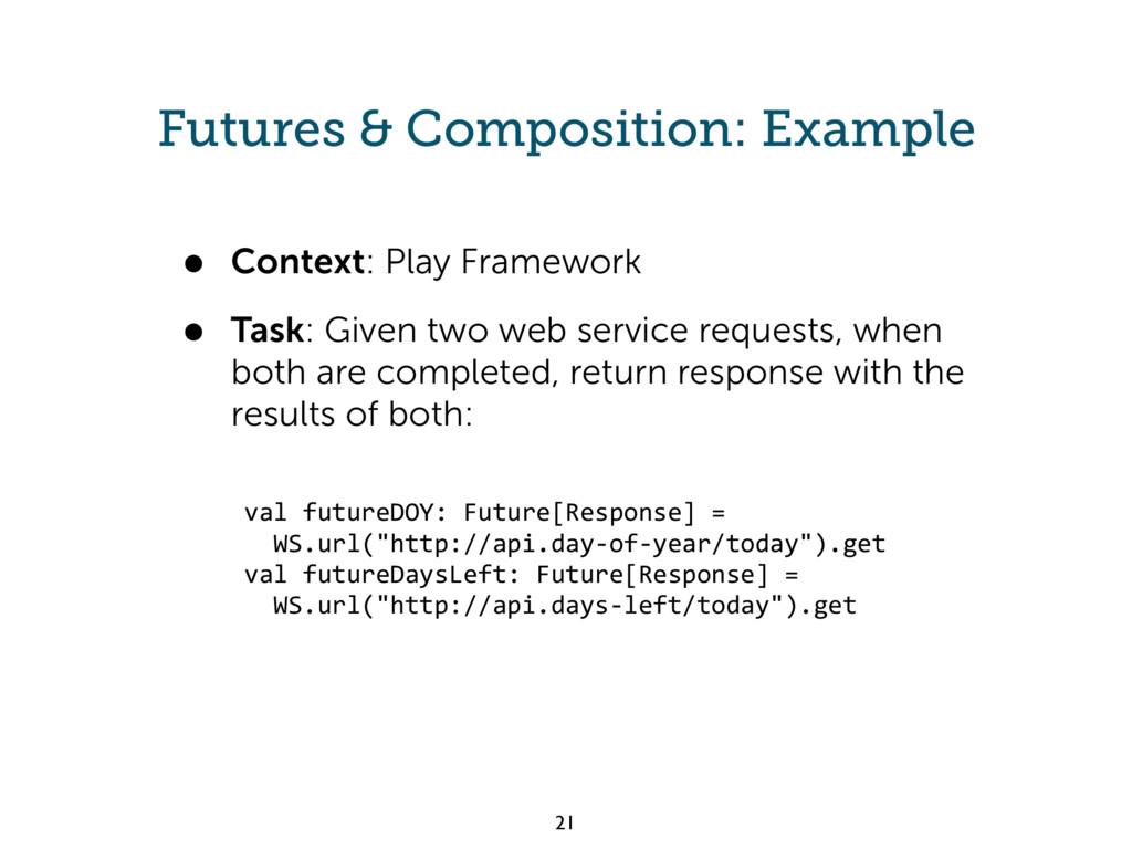 Futures & Composition: Example • Context: Play ...
