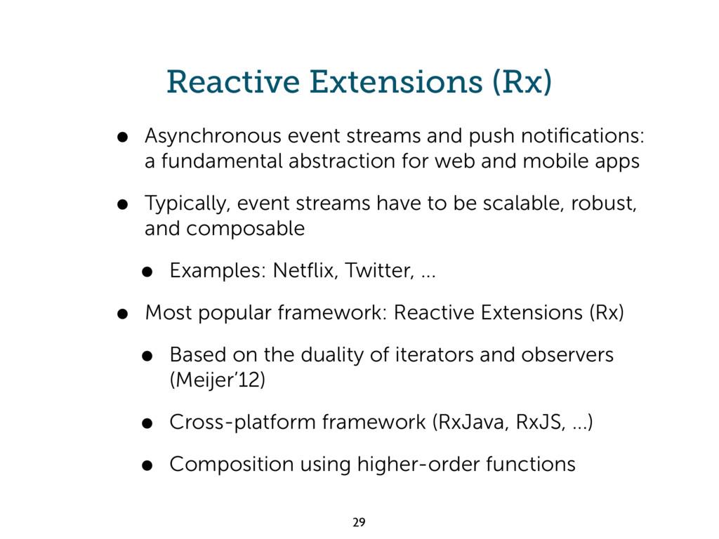 Reactive Extensions (Rx) • Asynchronous event s...
