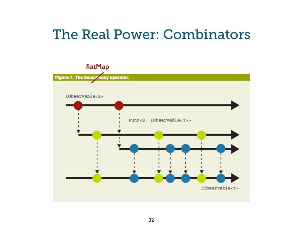 The Real Power: Combinators flatMap 32