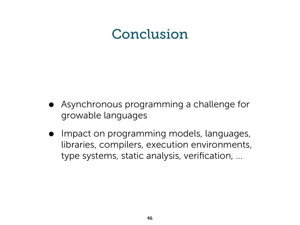 Conclusion • Asynchronous programming a challen...