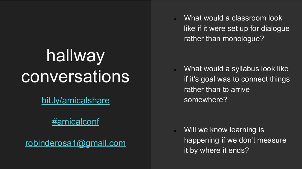 hallway conversations bit.ly/amicalshare #amica...