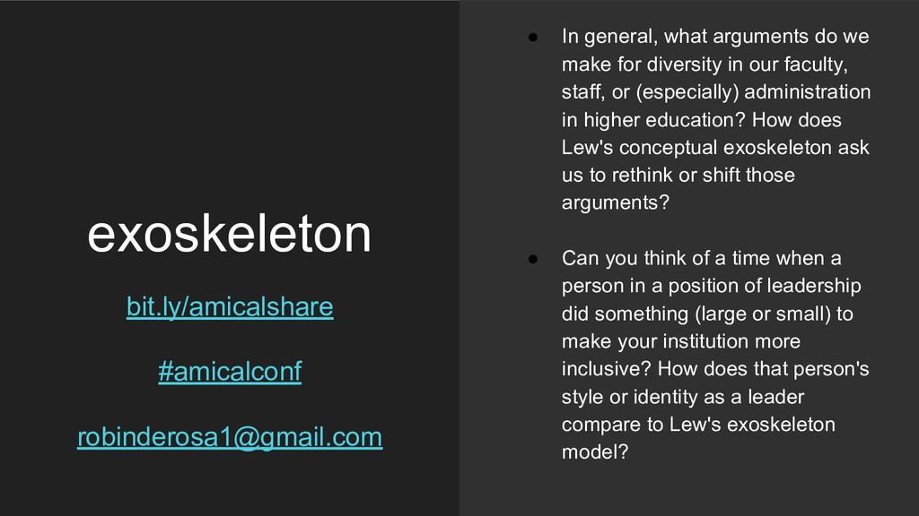 exoskeleton bit.ly/amicalshare #amicalconf robi...