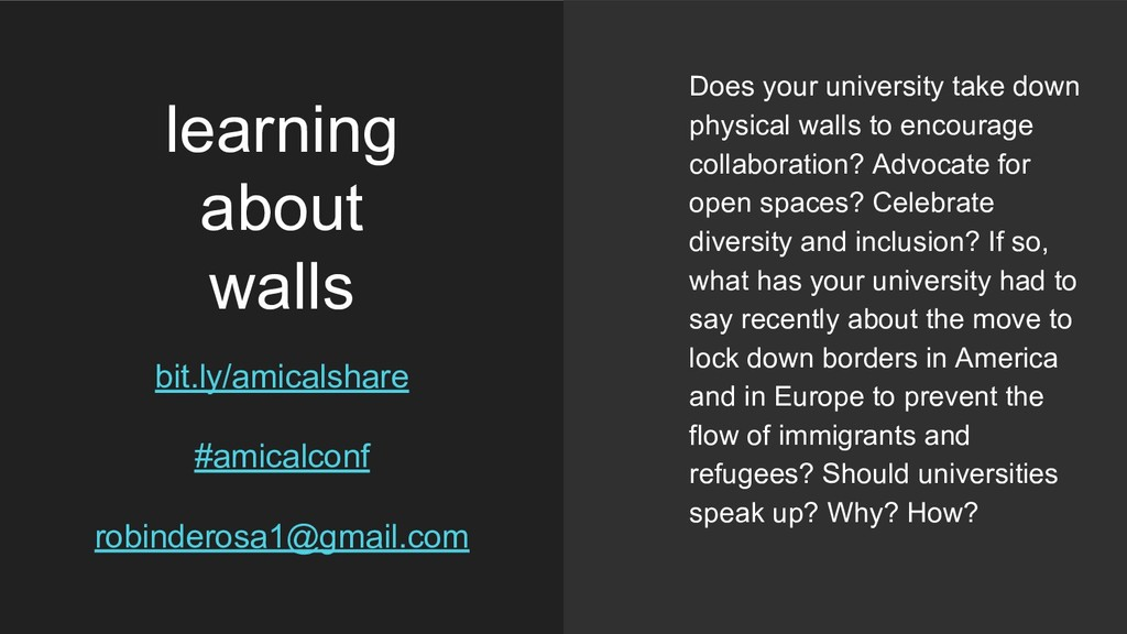 learning about walls bit.ly/amicalshare #amical...