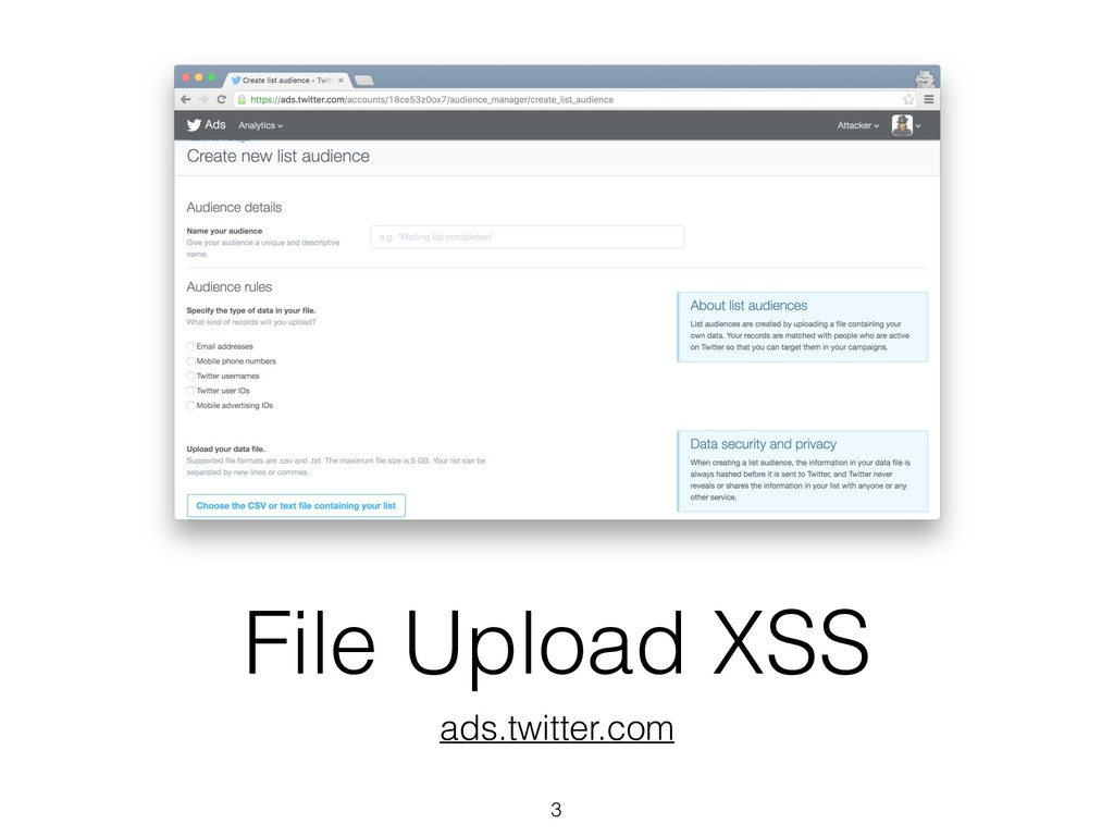 File Upload XSS ads.twitter.com 3