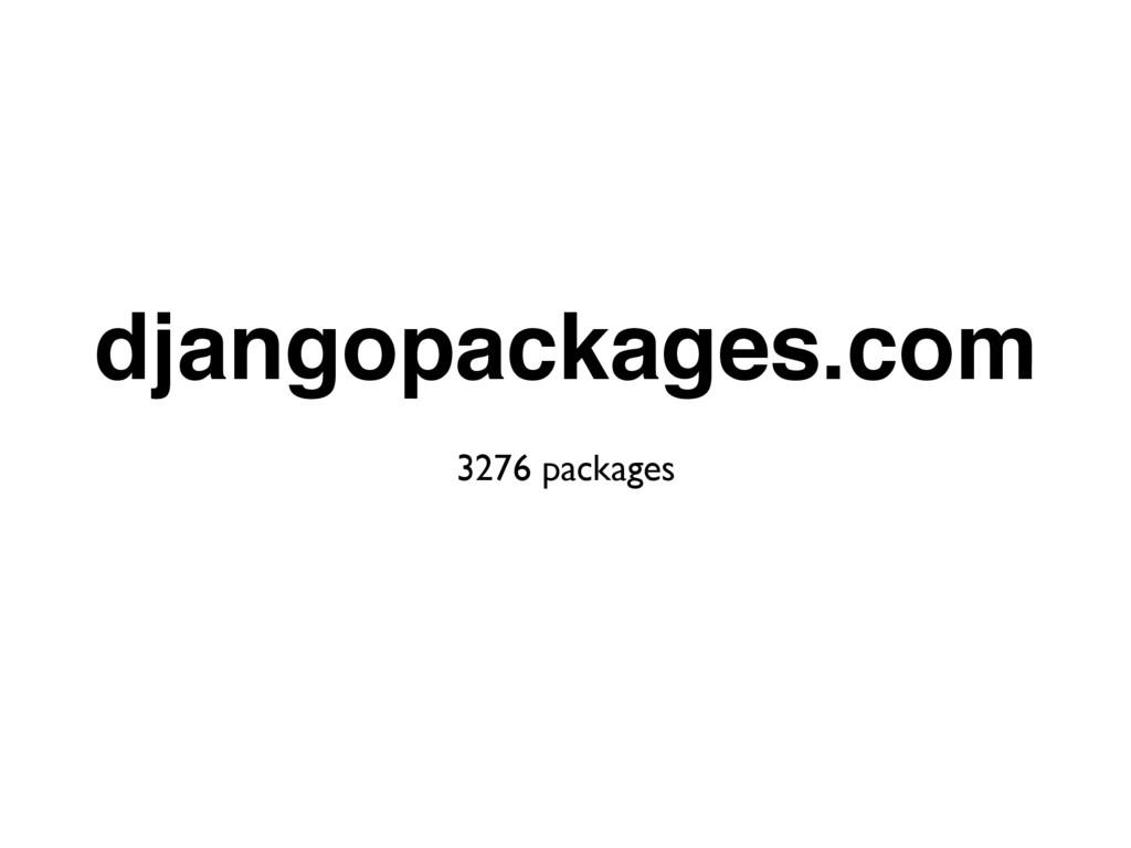 djangopackages.com 3276 packages