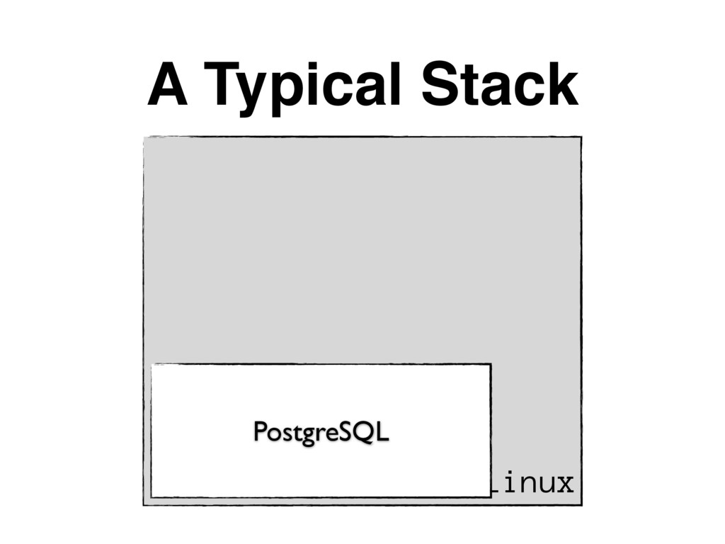 A Typical Stack Linux PostgreSQL