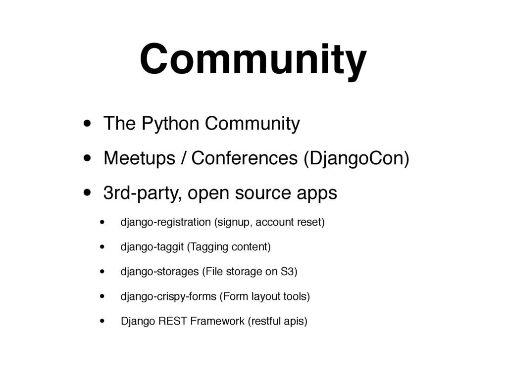 Community • The Python Community • Meetups / Co...
