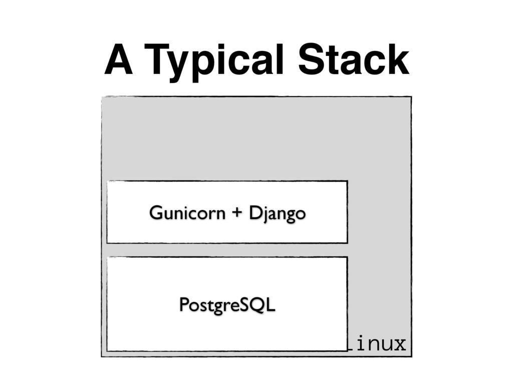 A Typical Stack Linux PostgreSQL Gunicorn + Dja...
