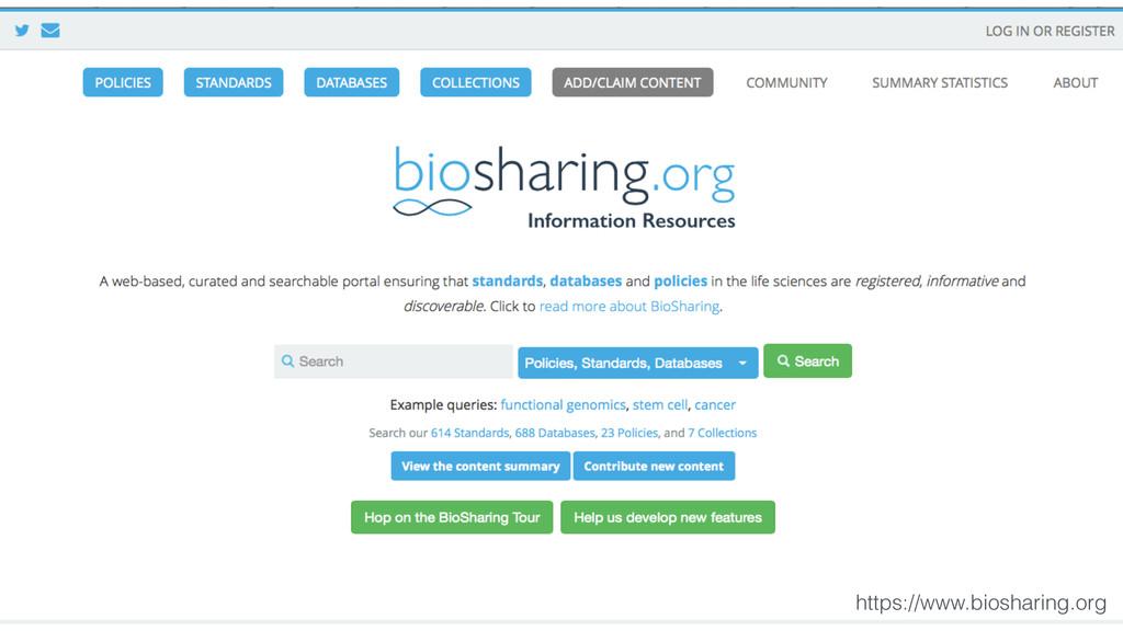 https://www.biosharing.org