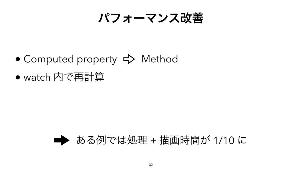 ͋ΔྫͰॲཧ + ඳը͕ؒ 1/10 ʹ Computed property wat...