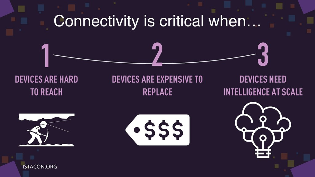 Connectivity is critical when… 1 3 2 DEVICES AR...