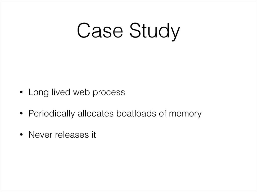 Case Study • Long lived web process • Periodica...