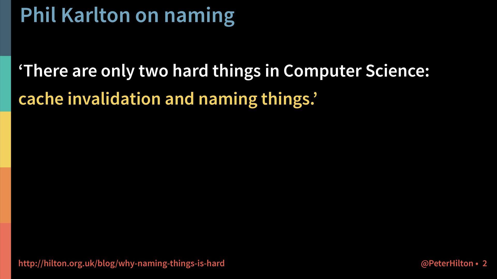 Phil Karlton on naming @PeterHilton • 2 'There ...