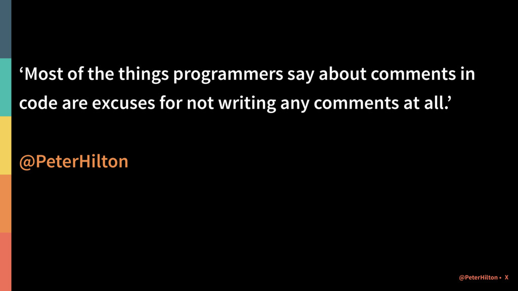 'Most of the things programmers say about comme...