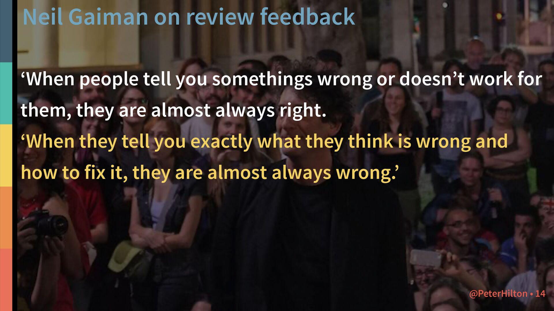 Neil Gaiman on open source 'The main rule of wr...