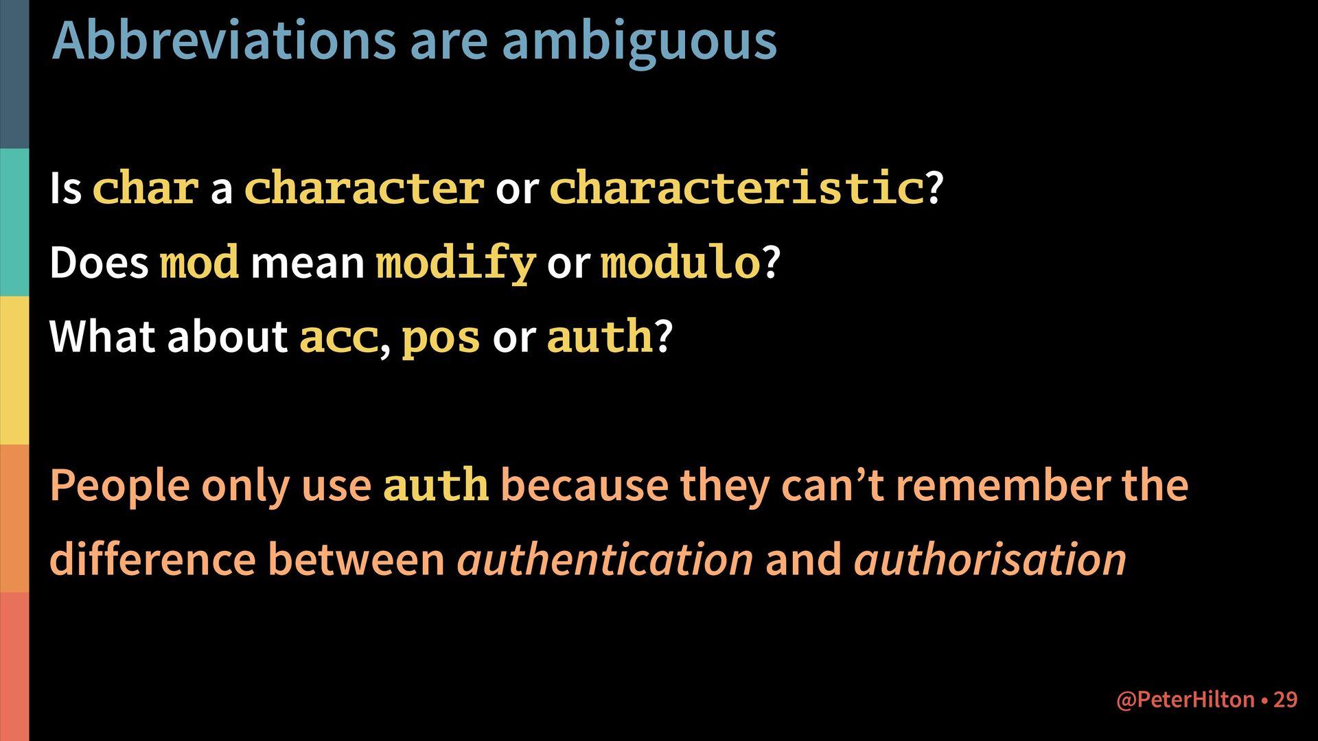 Naming things badly