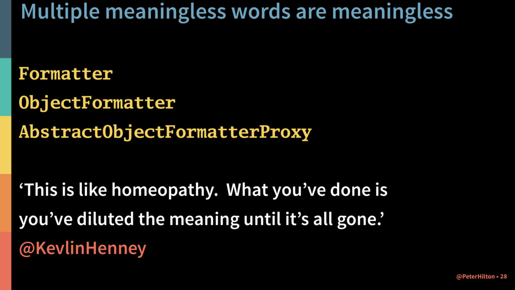 Multiple meaningless words are meaningless Form...