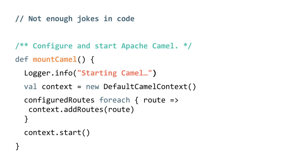 // Not enough jokes in code /** Configure and s...