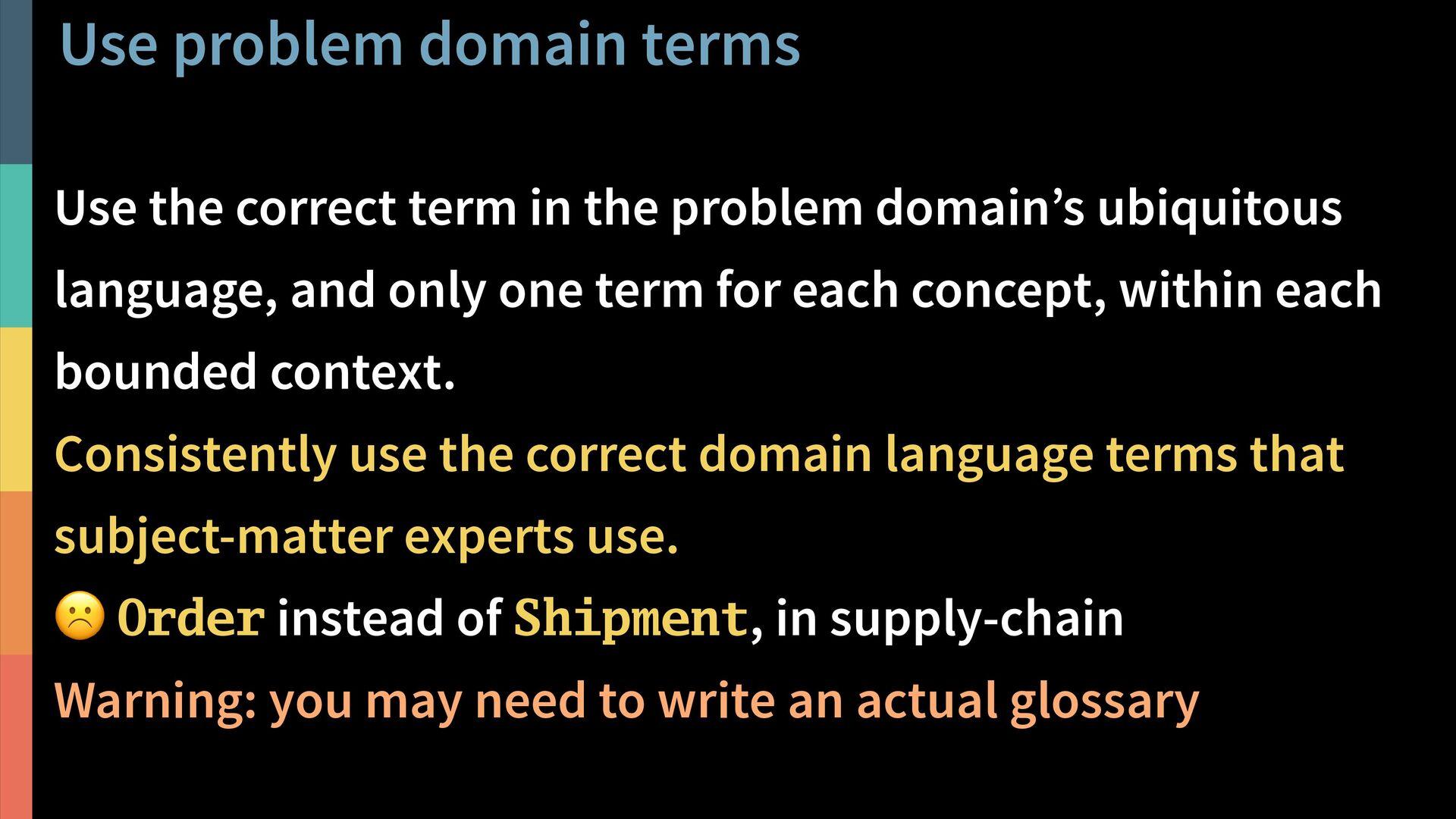 Better naming