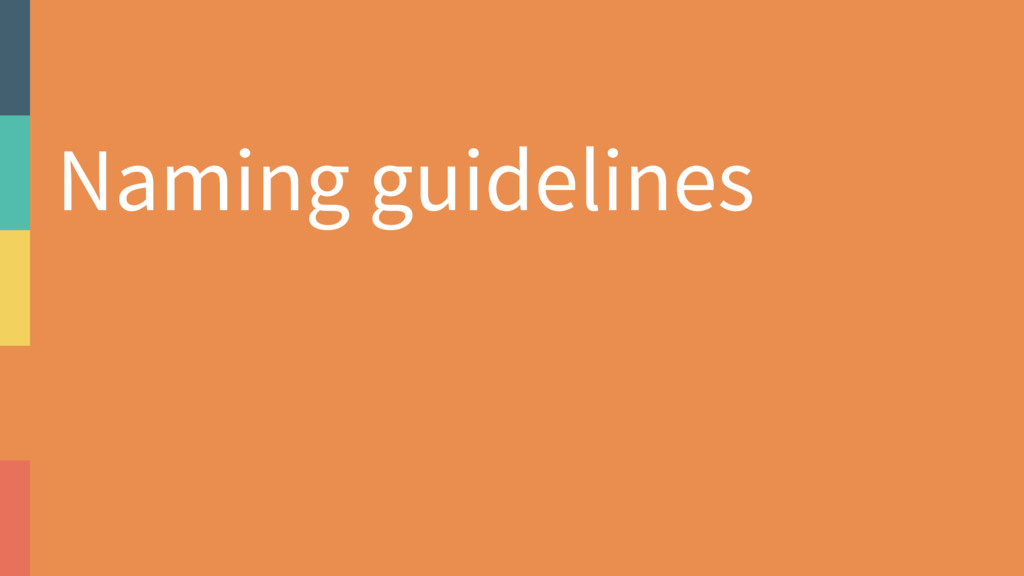 Naming guidelines