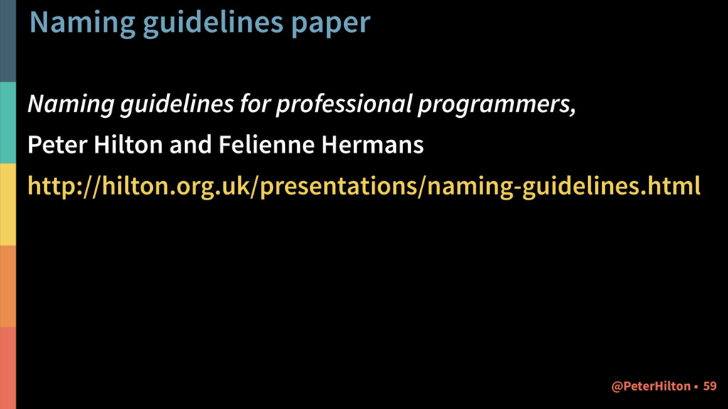 Naming guidelines for professional programmers,...