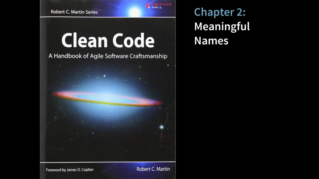 Chapter 2: Meaningful Names