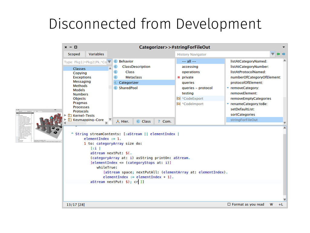 Disconnected from Development