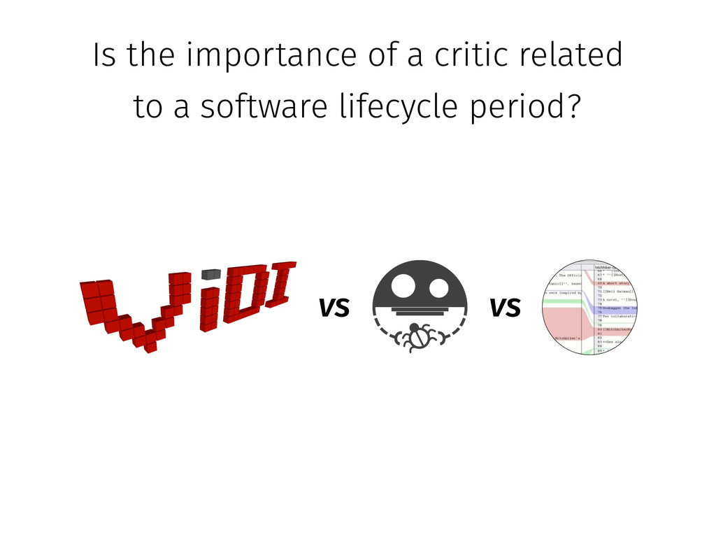 vs Is the importance of a critic related to a s...