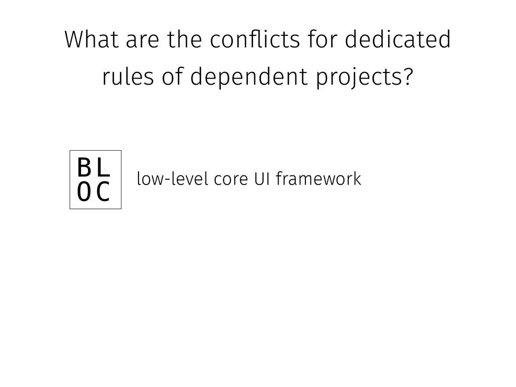 What are the con#icts for dedicated rules of de...
