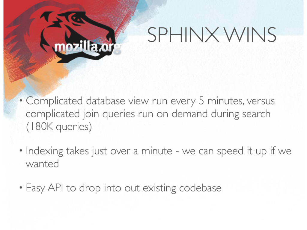 SPHINX WINS • Complicated database view run eve...