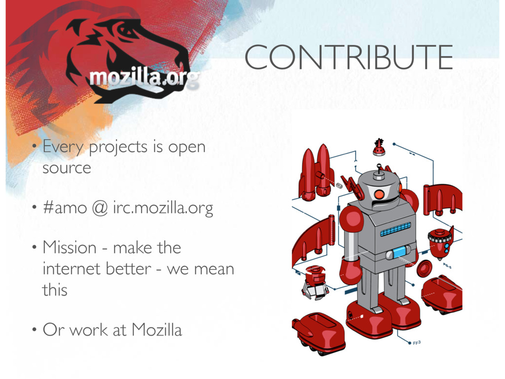 CONTRIBUTE • Every projects is open source • #a...