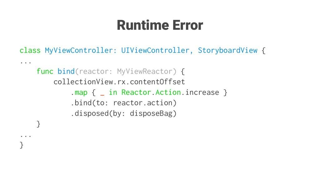 Runtime Error class MyViewController: UIViewCon...