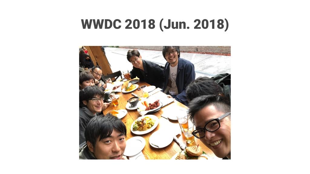WWDC 2018 (Jun. 2018)
