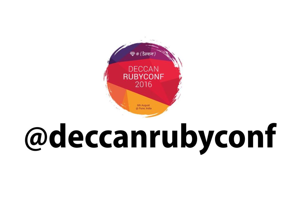 @deccanrubyconf