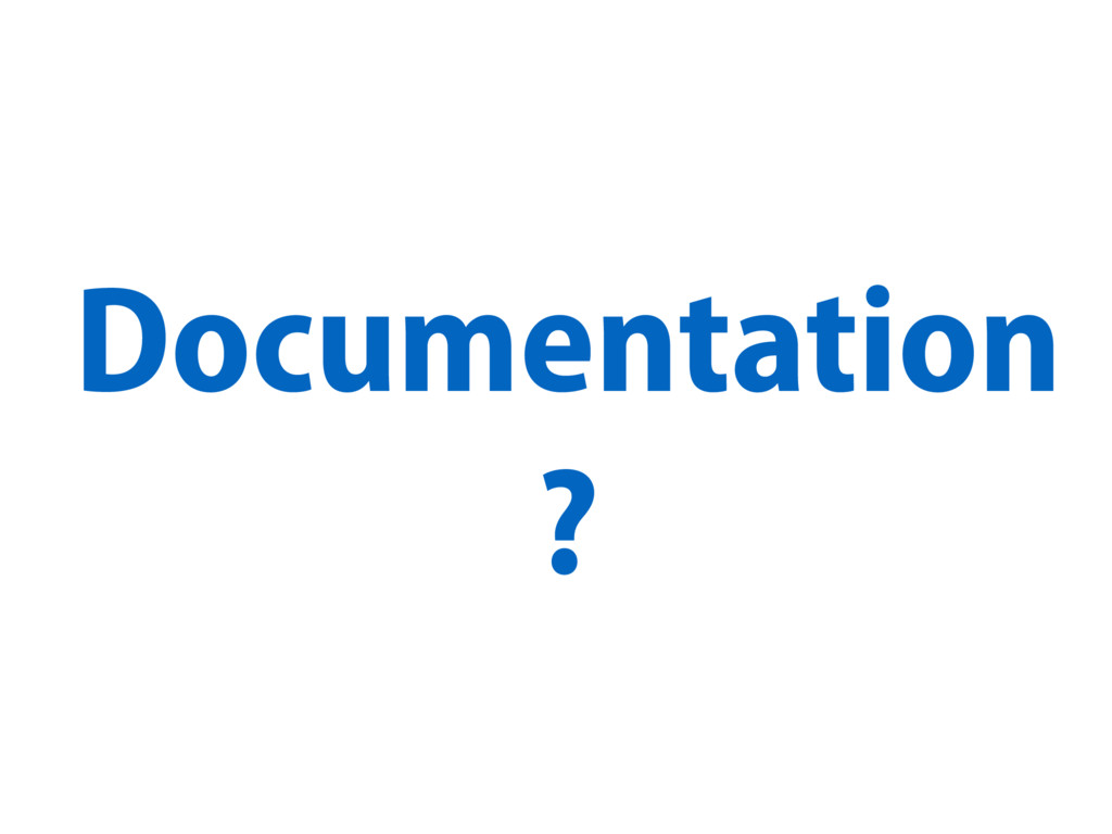 Documentation ?
