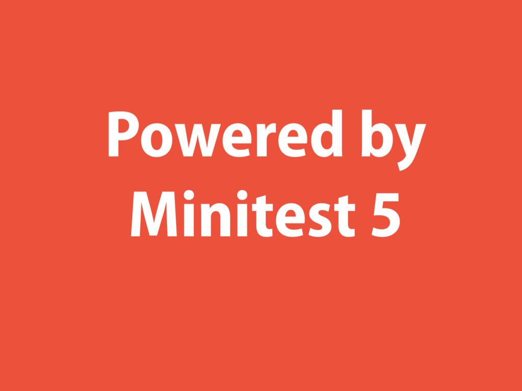 Powered by Minitest 5