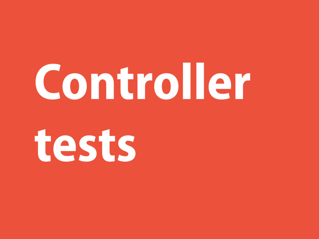 Controller tests