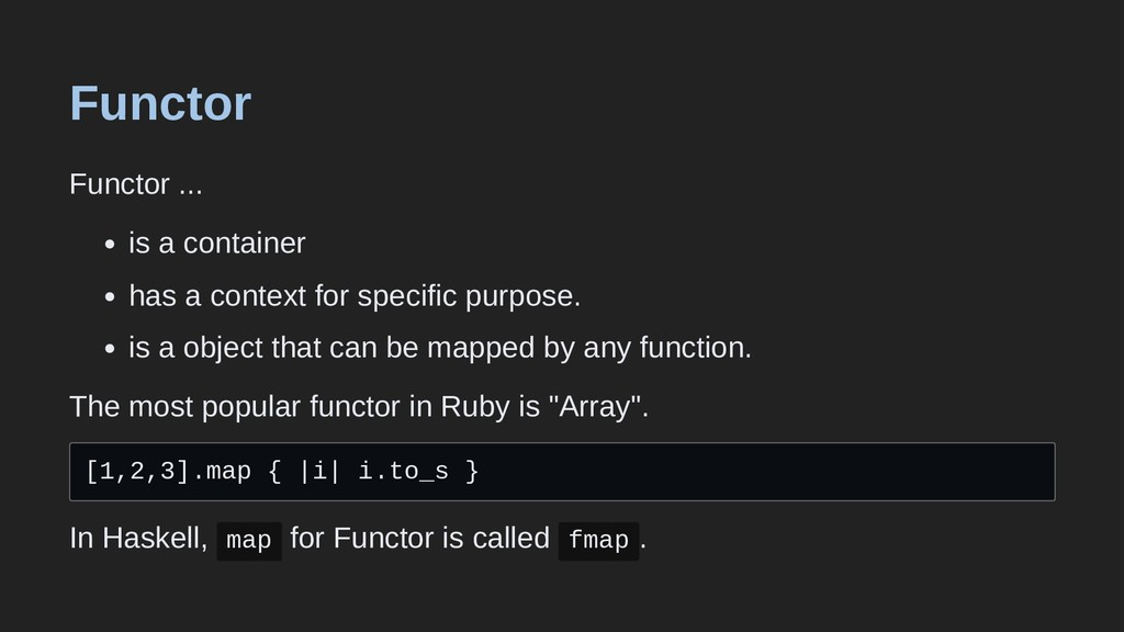 Functor Functor ... is a container has a contex...
