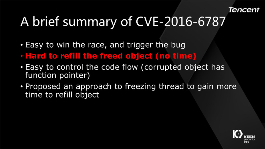 A brief summary of CVE-2016-6787 • Easy to win ...