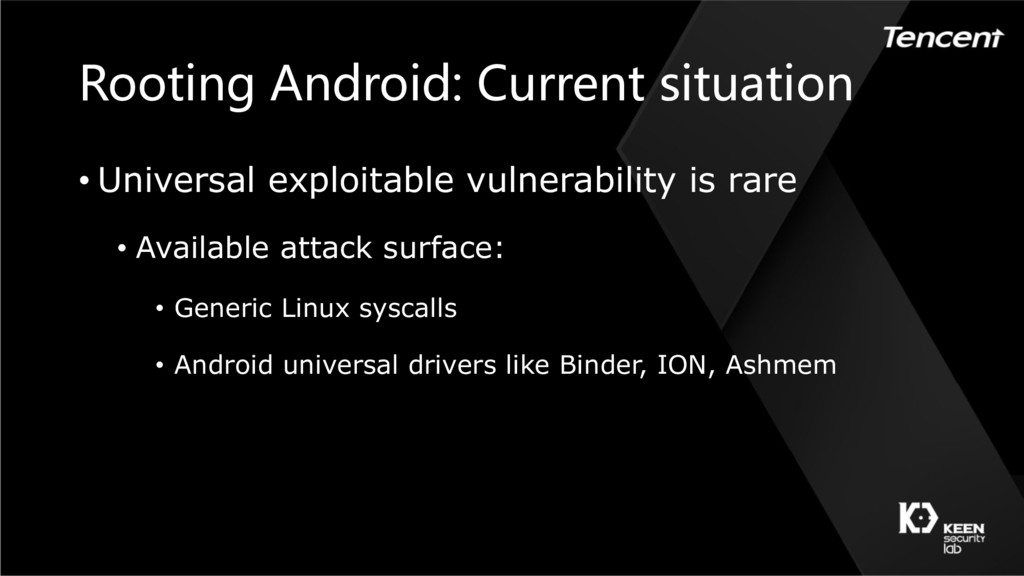 Rooting Android: Current situation • Universal ...