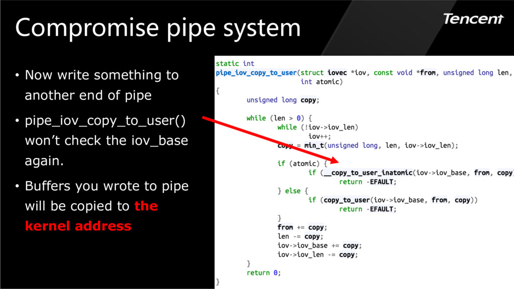 Compromise pipe system • Now write something to...