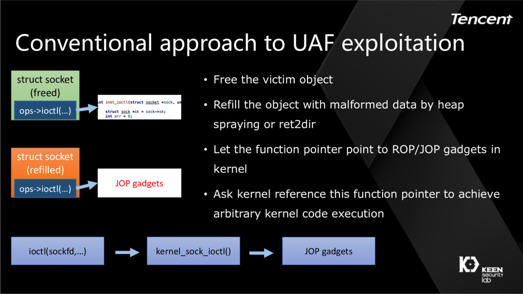 Conventional approach to UAF exploitation struc...