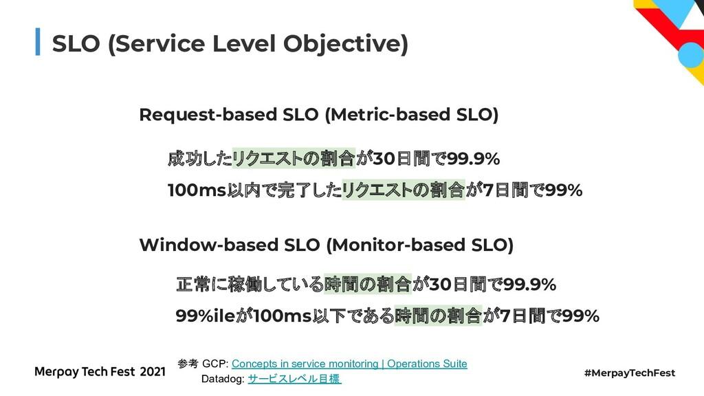 #MerpayTechFest SLO (Service Level Objective) R...