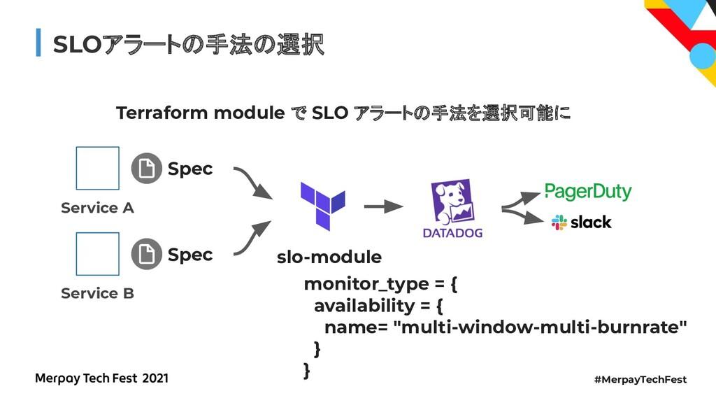 #MerpayTechFest SLOアラートの手法の選択 Terraform module ...