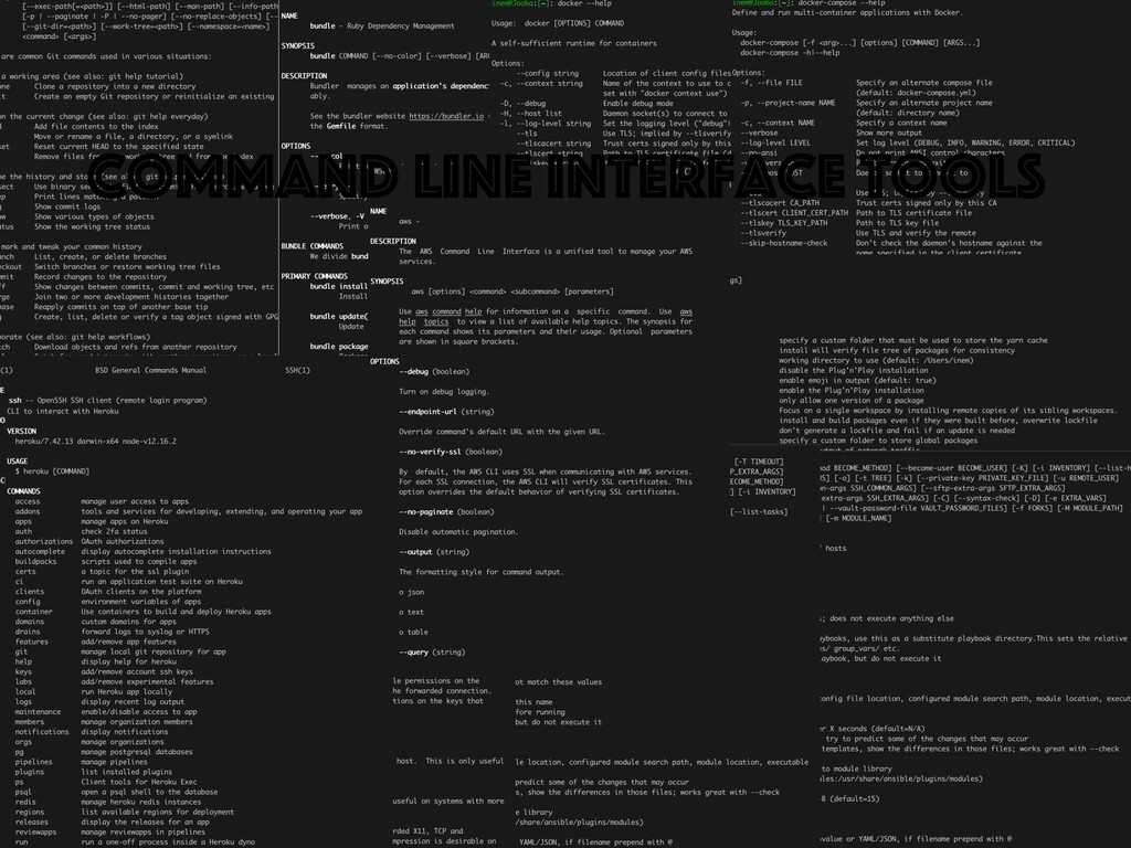 Command line interface tools