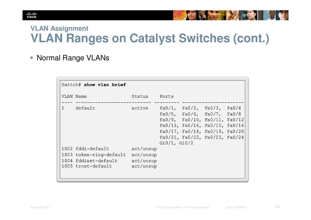 Presentation_ID 23 © 2008 Cisco Systems, Inc. A...