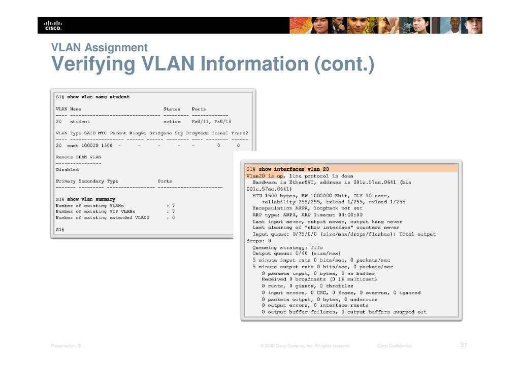Presentation_ID 31 © 2008 Cisco Systems, Inc. A...